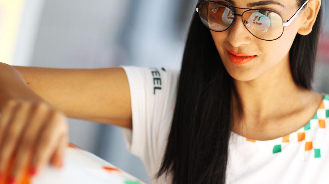 Force India-Girls - Formel 1 - GP Indien - 25. Oktober 2013
