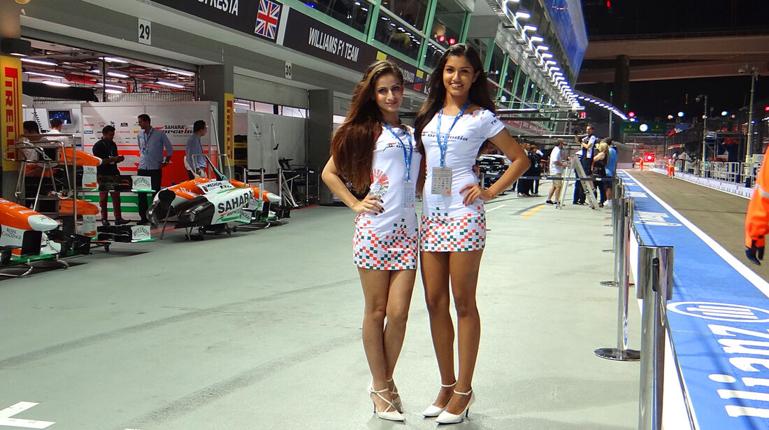 Force India-Girls - Formel 1 - GP Singapur - 20. September 2013