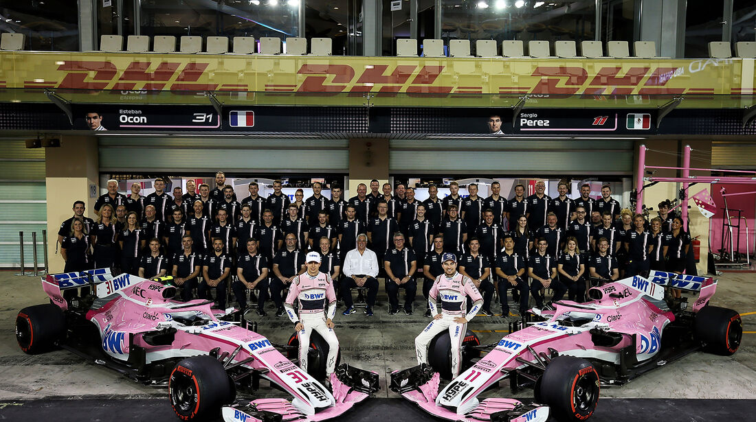 Force India Teamfoto - Formel 1 - GP Abu Dhabi  -24. November 2018