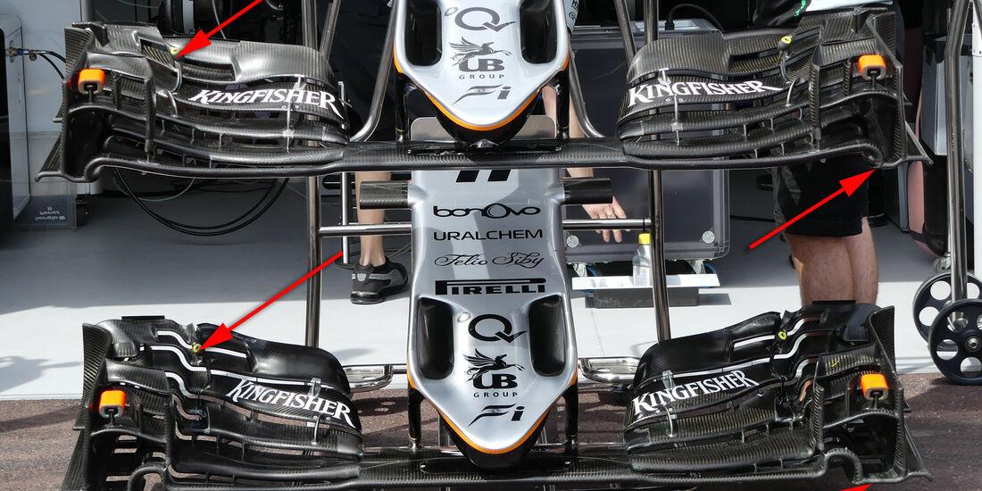 Force India - Technik - GP Monaco 2016
