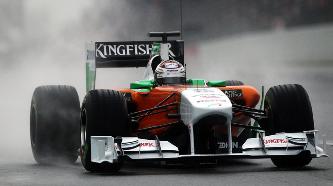 Force India VJM04 Sutil Formel 1 Test Barcelona 2011
