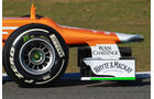 Force India VJM05 Formel 1 Nase Jerez 2012