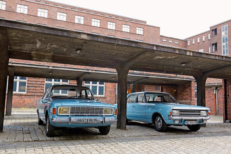 Ford 20 M, Opel Rekord 1900 L, Frontansicht, Kühlergrill