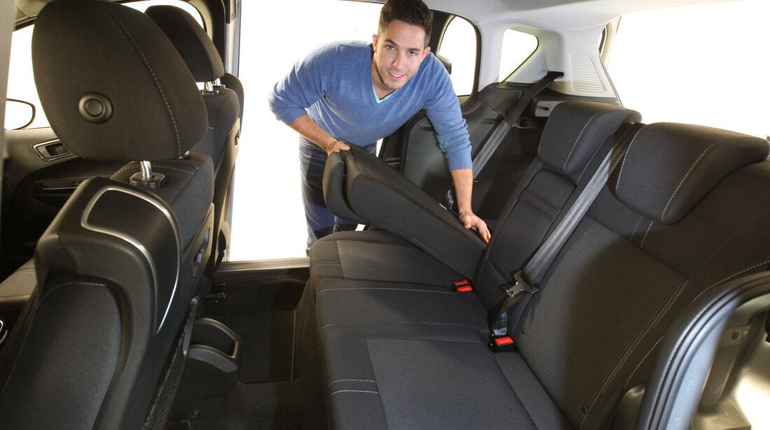 Ford B-Max 1.0 Ecoboost Titanium, Rücksitz, Umklappen