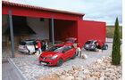 Ford B-Max 1.6 TDCi, Renault Clio Grandtour dci 90, Seat Ibiza ST 1.6 TDI, Seitenansicht