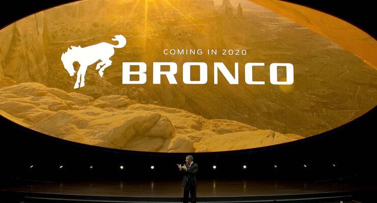 Ford Bronco Ankündigung NAIAS 2017 Detroit