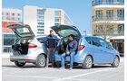 Ford C-MAX 2.0 TDCi, Opel Meriva 1.6 CDTI, Laderaum