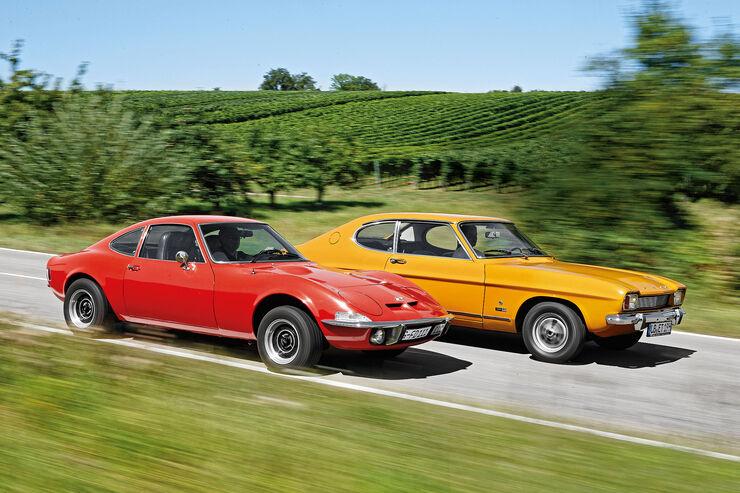 Ford Capri 1700 Gt Und Opel Gt 1900 Im Vergleich Auto
