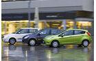 Ford Fiesta 1.6 TDCi, Renault Clio 1.5 dCi, Skoda Fabia 1.4 TDI