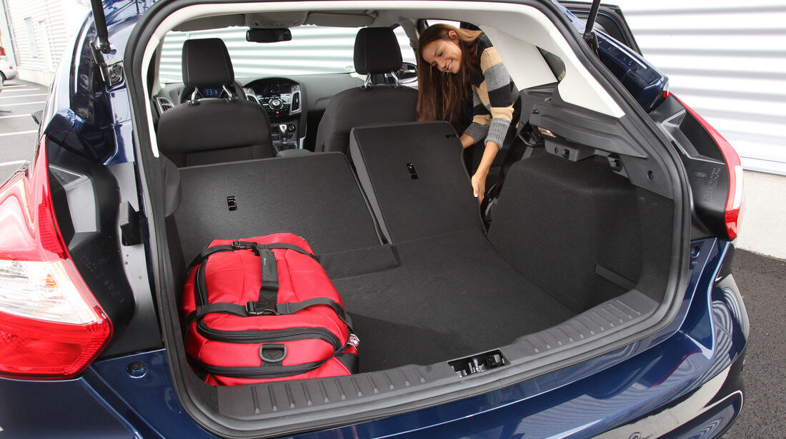 Ford Focus 1.6 Ecoboost, Ladefläche, umklappen, Rückbank
