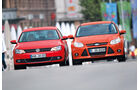 Ford Focus 2.0 TDCi Trend, VW Jetta 2.0 TDI Highline, Frontansicht
