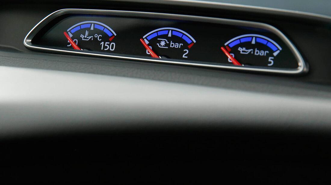 Ford Focus RS 2015, Cockpit, Innenraum, Zusatzinstrumente