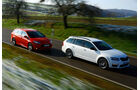 Ford Focus ST Turnier, Skoda Octavia RS Combi, Frontansicht