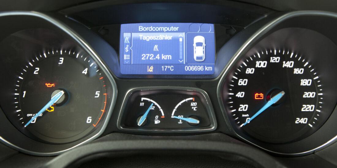 Ford Focus Turnier 1.6 TDCi, Cockpit, Rundinstrumente