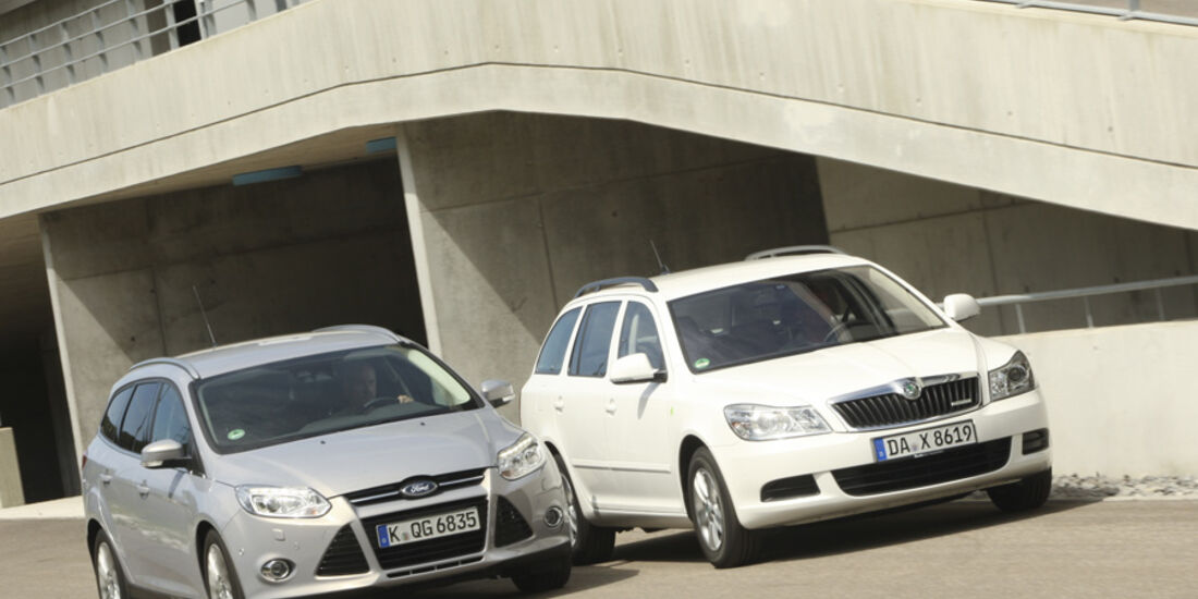 Ford Focus Turnier 1.6 TDCi, Skoda Octavia Combi Green