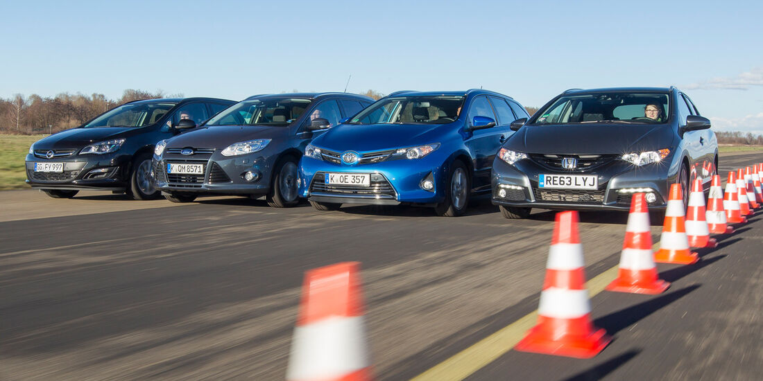 Ford Focus Turnier, Honda Civic Tourer, Opel Astra Sports Tourer, Toyota Auris Touring Sports