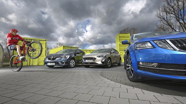 Ford Focus Turnier, Renault Megane, Skoda Octavia Combi, Exterieur