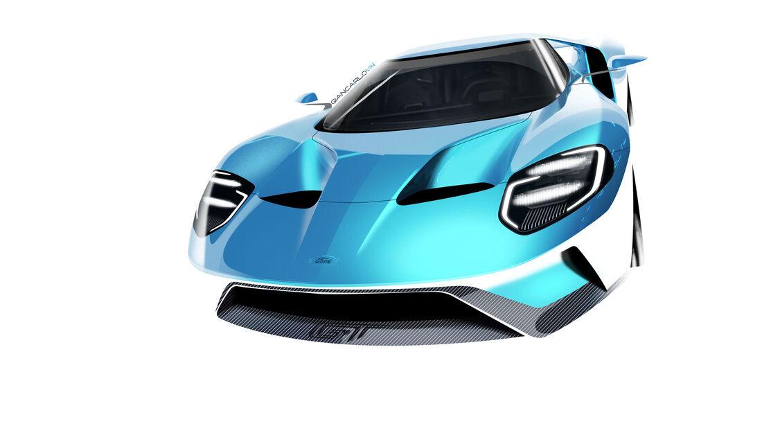 Ford GT - Supersportwagen - Entwicklung - letzte Skizzen