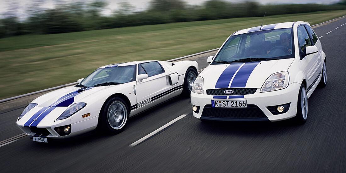 Ford GT und Fiesta