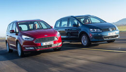 Ford Galaxy 1.5 Ecoboost, VW Sharan 1.4 TSI, Frontansicht