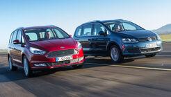 Ford Galaxy 1.5 Ecoboost, VW Sharan 1.4 TSI, Frontansicht