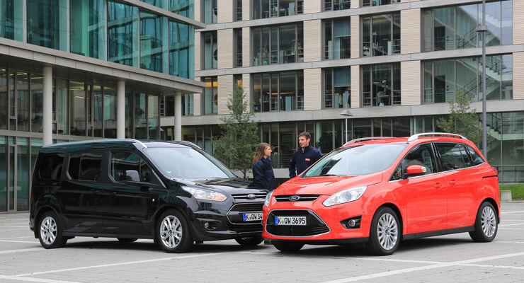 Ford Grand Tourneo Connect Und Ford Grand C Max Duell Der
