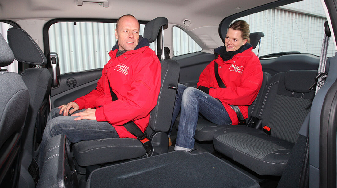 Ford Grand C-Max, Innenraum, Rücksitze