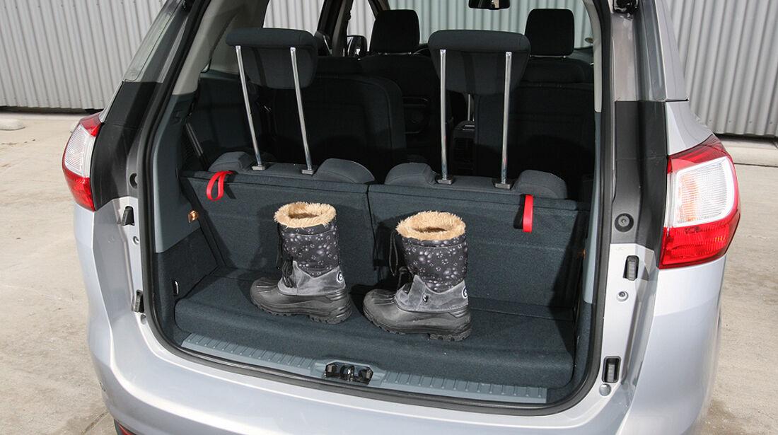 Ford Grand C-Max, Kofferraum, dritte Sitzreihe