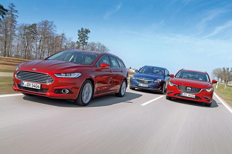 Ford Mondeo Turnier, Mazda 6 Kombi, Opel Insignia Sports Tourer
