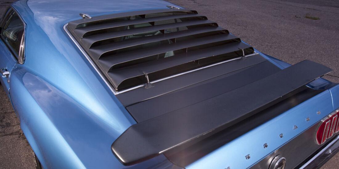 Ford Mustang Boss 302, Heck, Rückfenster