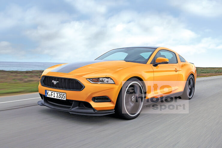 Ford Mustang Retusche