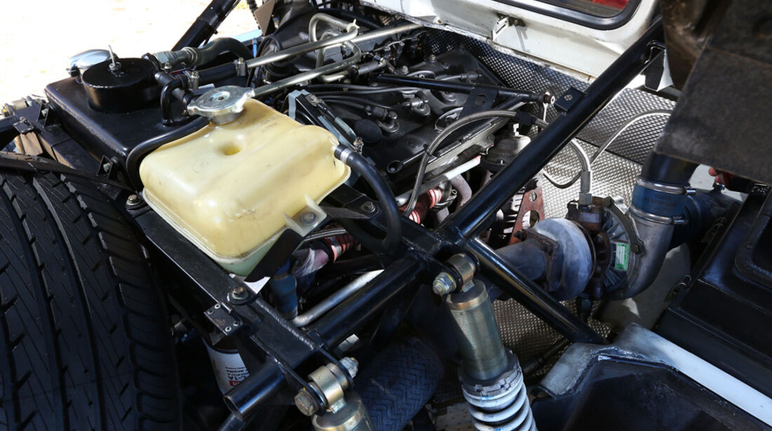 Ford RS 200, Federbeine, Ersatzrad