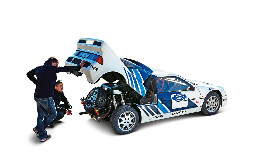 Ford RS 200, Seitenansicht,