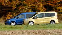 Ford Tourneo Connect, VW Caddy, Seitenansicht