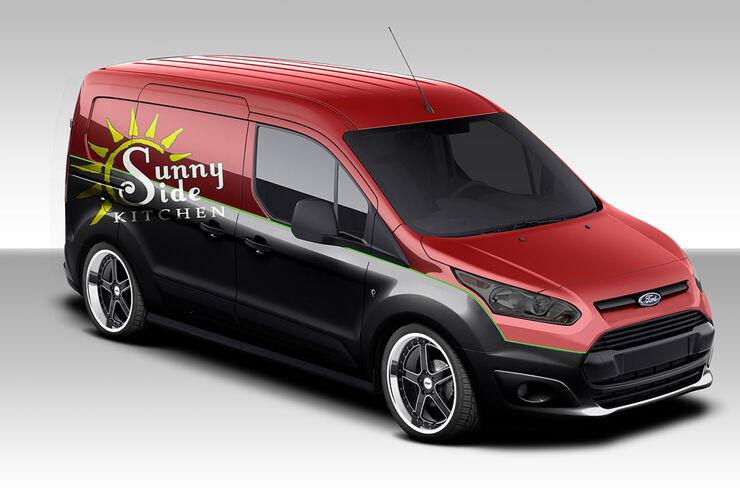 ford transit connect auf der sema 2013 lieferwagen in. Black Bedroom Furniture Sets. Home Design Ideas