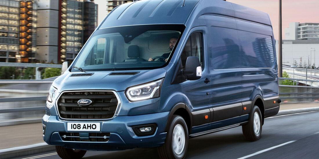 ford transit weltpremiere transporter mit hybridantrieb auf der iaa auto motor und sport