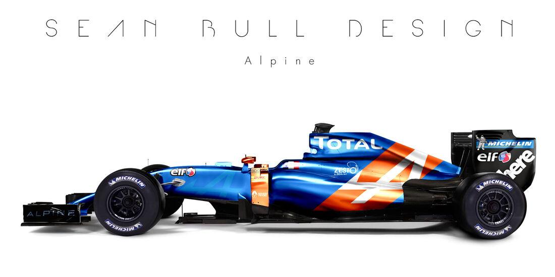 Formel 1 - Alpine - Fantasie-Teams - Sean Bull Design