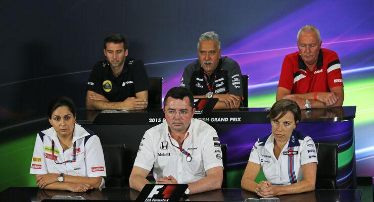 Formel 1 - GP England - Silverstone - FIA-PK - Freitag - 3.7.2015