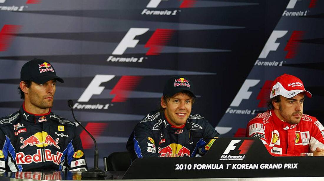 Formel 1 GP Korea 2010 Pressekonferenz