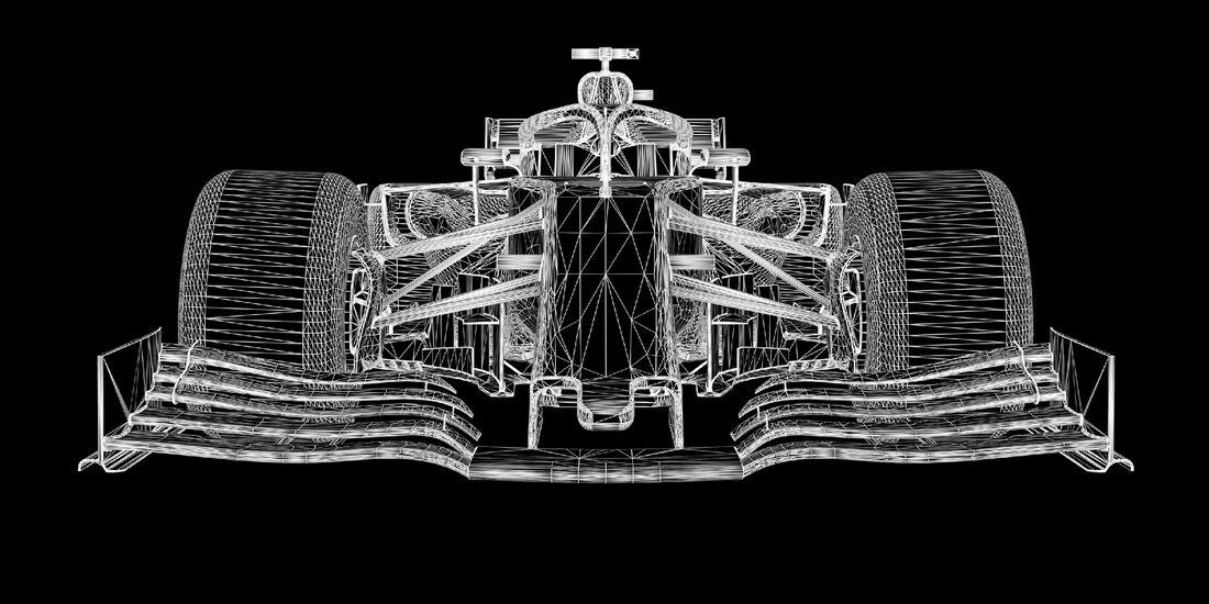 Formel 1 Gitternetz-Modell 2019