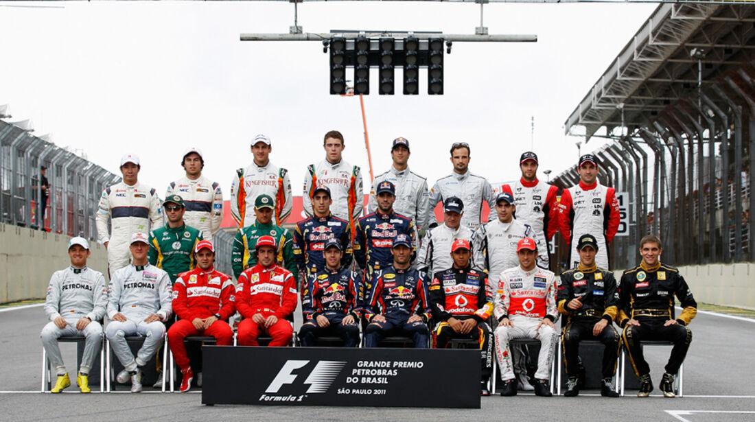 Formel 1 Gruppenfoto GP Brasilien 2011