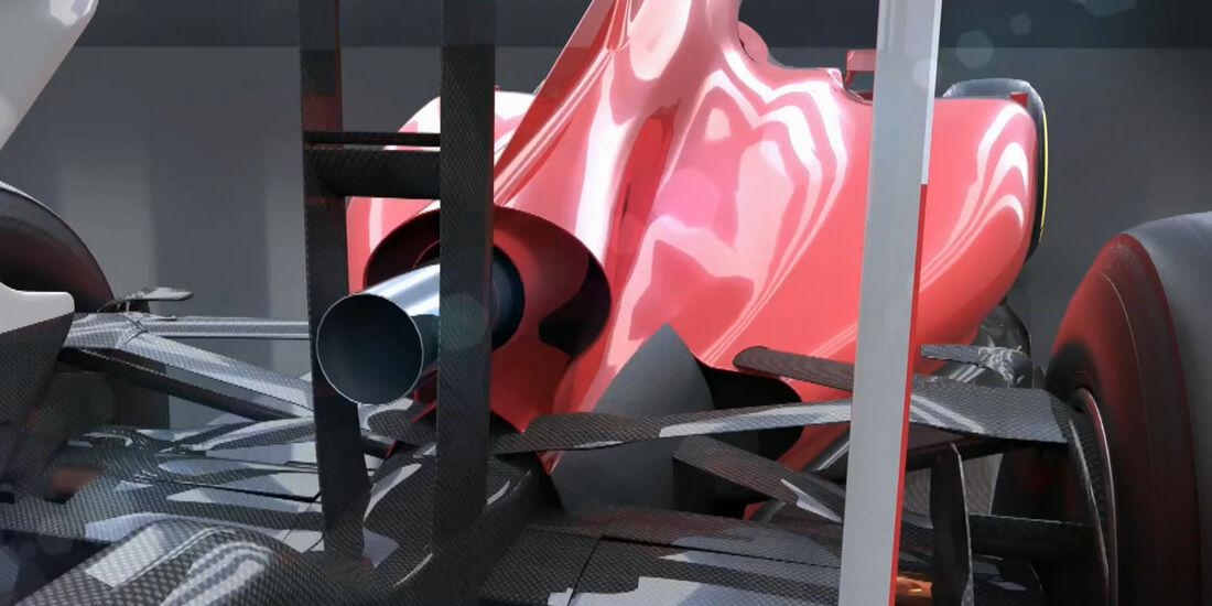 Formel 1 Reglement 2014 - Ferrari - Piola Animation