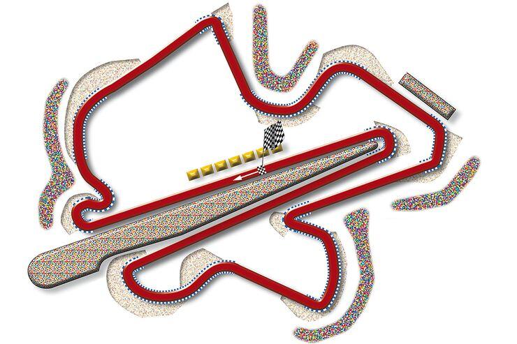 Formel 1- Rennstrecke Malaysia