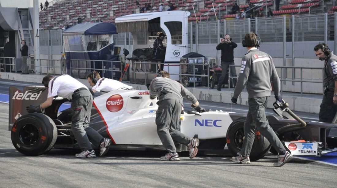 Formel 1-Test, Barcelona, 01.03.2012, Sergio Perez, Sauber