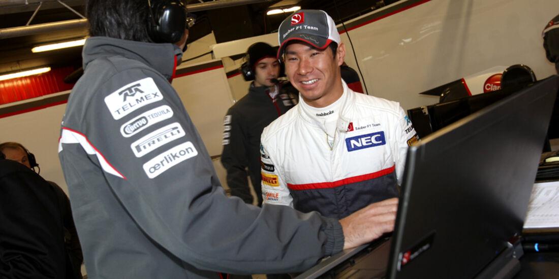 Formel 1-Test, Barcelona, 24.2.2012, Kamui Kobayashi, Sauber