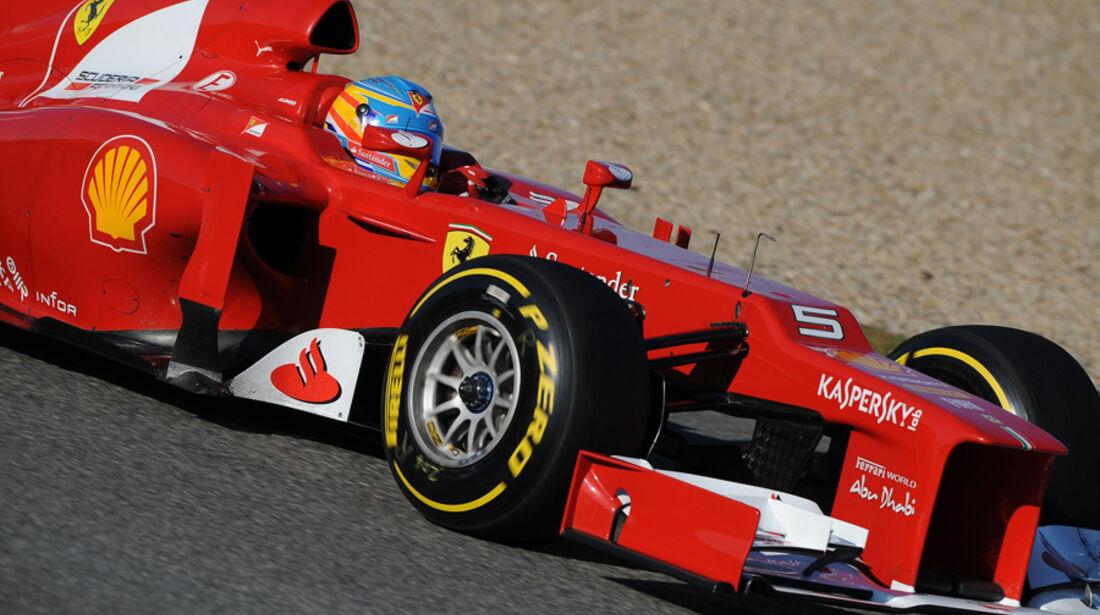 Formel 1-Test, Jerez, 10.2.2012, Fernando Alonso, Ferrari