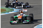 Formel 1-Test, Jerez, 7.2.2012, Paul di Resta, Force India