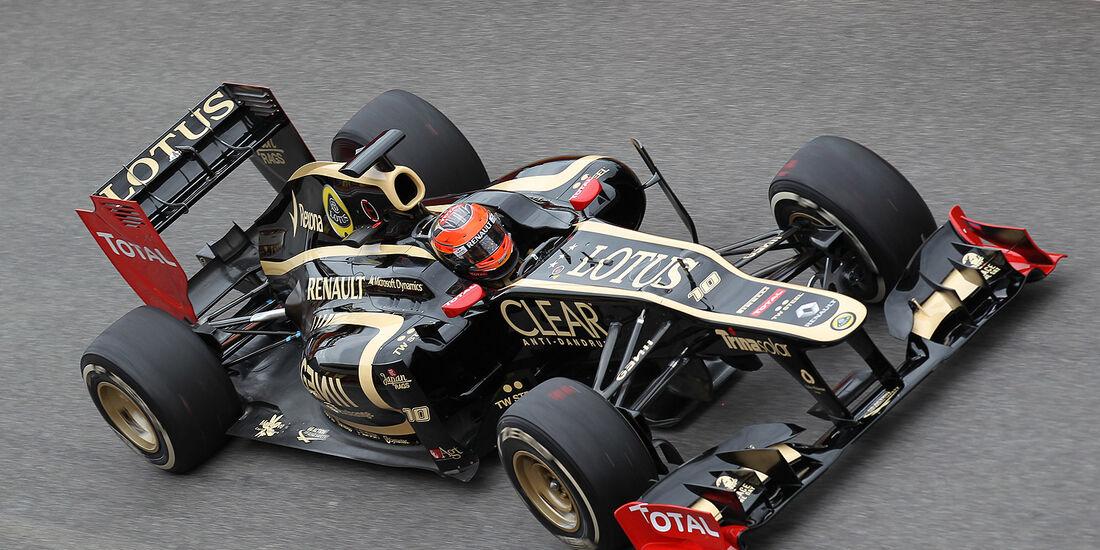 Formel 1-Test, Mugello, 03.05.2012, Romain Grosjean, Lotus Renault GP