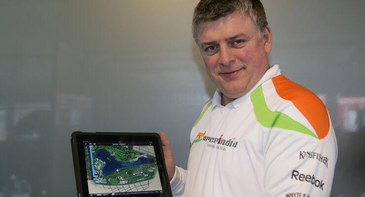 Formel 1 iPad App 2012 Szafnauer