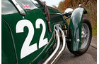 Frazer Nash Le Mans Replica, Seitenansicht, Auspuffanlage